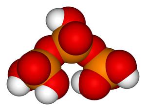 Triphosphoric acid - Image: Tripolyphosphoric acid 3D vd W