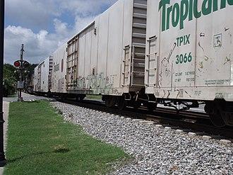 Juice Train - Tropicana cars seen in 2009.