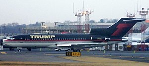 Donald Trump's personal 727 at Laguardia Aiport