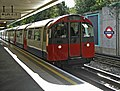 Tube Train approaching northbound platform, Oakwood Station, London N14 - geograph.org.uk - 992638.jpg