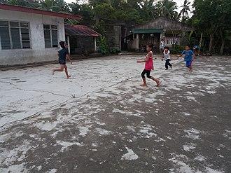 Tumbang preso - Kids playing Tumbang preso in Buhi, Camarines Sur