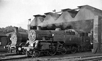 Tunbridge Wells West railway station - The depot in 1961