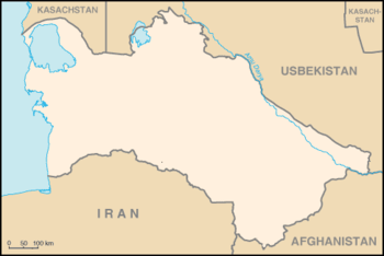 Map of Turkmenistan from CIA World Fact book, ...