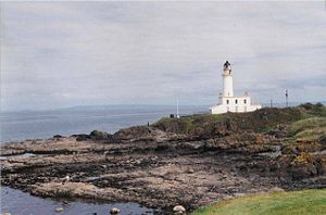 English: Turnberry Lighthouse. Built on the ru...