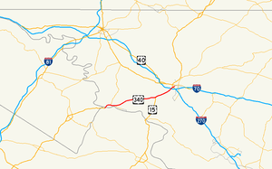 U.S. Route 340 in Maryland - Image: U.S. 340 (MD) map