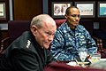U.S. Army Gen. Martin E. Dempsey, left, the chairman of the Joint Chiefs of Staff, talks with incoming U.S. Strategic Command Commander Navy Adm. Cecil D. Haney and other leaders at Offut Air Force Base, Neb 131114-D-KC128-062.jpg