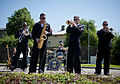 U.S. Sailors with the U.S. Naval Forces Europe Band, Topside, perform for the Latvian community June 8, 2013, during Baltic Operations (BALTOPS) 2013 in Ventspils, Latvia 130608-N-ZL691-197.jpg