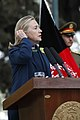 U.S. Secretary of State Hillary Rodham Clinton speaks during a press conference with Afghan President Hamid Karzai at the presidential palace in Kabul, Afghanistan 111020-S-PA947-729.jpg