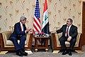 U.S. Secretary of State John Kerry Sits With Iraqi Foreign Minister Zebari in Baghdad (14488313311).jpg