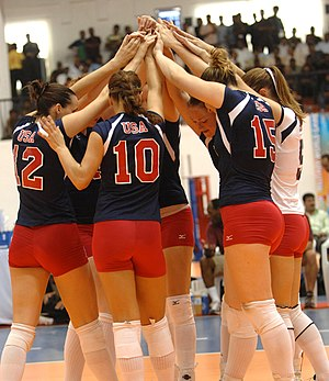 United States women's national volleyball team - Image: U.S. Womens Volleyball team CISM 2007