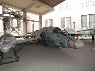 Black Cat Squadron - U-2C 56-6691 wreckage (shot down on 10 January 1965) on display at the Military Museum of the Chinese People's Revolution, Beijing