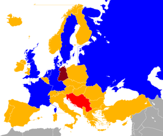 UEFA Euro 1992 qualifying - Image: UEFA Euro 1992 Qualifiers Map