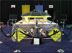 University of Michigan Solar Car Team - Momentum on display at the 2006 North American International Auto Show.