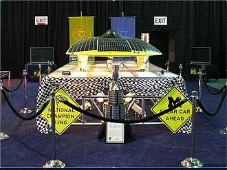 University of Michigan Solar Car Team - Momentum on display at the 2006 North American International Auto Show.