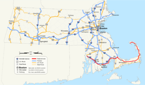 US Route In Massachusetts Wikipedia - Us route 6 map