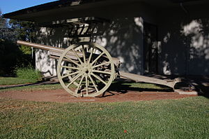 Jacob L. Devers - A 75mm gun