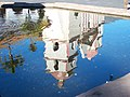 USA-Santa Barbara-Mission-Chapel Reflection in Fountain-1.jpg