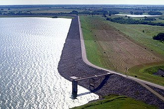 Ellis County, Texas - Bardwell Dam and Lake in Ellis County near the town of Ennis