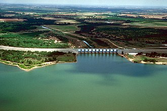 Proctor Lake - Image: USACE Proctor Lake and Dam