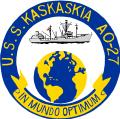 USS Kaskaskia (AO-27) insignia, 1963 (KN-8700).png