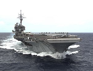 USS Kitty Hawk (CV-63) underway at sea on 13 July 1998.jpg