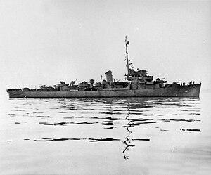 USS McConnell (DE-163) off the Mare Island Naval Shipyard, California (USA), on 6 January 1945 (DE-163-224-45)