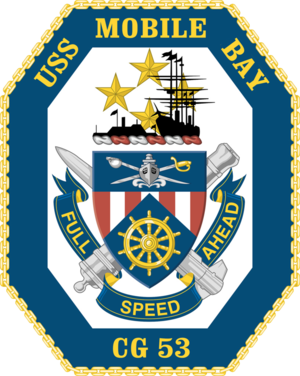 USS Mobile Bay - Image: USS Mobile Bay CG 53 Crest