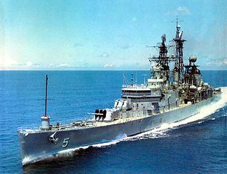 USS Oklahoma City (CL-91) - Oklahoma City in 1960.