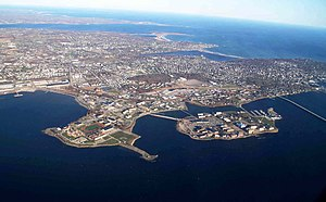 Naval Station Newport - Image: US Naval Station Newport aerial view in 2010