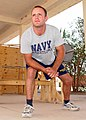 US Navy 030816-N-9176J-010 Steelworker Constructionman Joseph M. Axiotis, from Daytona Beach, Fla., trains for the All-Navy Wrestling Team.jpg