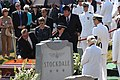 US Navy 050723-N-9286M-020 Relatives of the late retired Vice Adm. James B. Stockdale pay their respects during a funeral at the U.S. Naval Academy Cemetery on Hospital Point.jpg