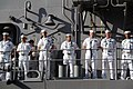 US Navy 060109-N-9643K-011 Sailors aboard the guided missile cruiser USS Chosin (CG 65) man the rails as the ship returns to Pearl Harbor.jpg