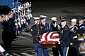 US Navy 061230-F-0194C-001 The casket of former President Gerald R. Ford, is carried by members of the U.S. Armed Forces Color Guard at Andrews Air Force Base, Md., Dec. 30, 2006.jpg