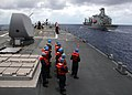 US Navy 070802-N-4953E-003 Sailors assigned to Arleigh Burke-class guided-missile destroyer USS Stethem (DDG 63) stands by as the ship comes alongside Military Sealift Command (MSC) fleet replenishment oiler USNS John Ericsson.jpg