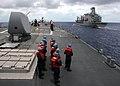 US Navy 070802-N-4953E-003 Sailors assigned to Arleigh Burke-class guided-missile destroyer USS Stethem (DDG 63) stands by as the ship comes alongside Military Sealift Command (MSC) fleet replenishment oiler USNS John Ericsson.jpg