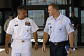 US Navy 080610-N-9818V-038 Master Chief Petty Officer of the Navy (MCPON) Joe R. Campa Jr. meets with Air Force Chief Master Sergeant James A. Roy, Senior Enlisted Leader and advisor to the United States Pacific Command Combata.jpg