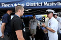 US Navy 090609-N-9818V-346 Master Chief Petty Officer of the Navy (MCPON) Rick West speaks with members in the Navy Delayed Entry Program (DEP) at the Riverbend Festival.jpg