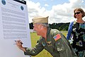 US Navy 100416-N-6651N-003 Rear Adm. Tim Alexander, Commander, Navy Region Southeast, signs a proclamation for the upcoming 40th anniversary of Earth Day.jpg