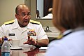 US Navy 101019-N-7367K-002 Vice Adm. Adam M. Robinson Jr., Surgeon General of the Navy and Marine Corps and Chief of the Navy Bureau of Medicine an.jpg