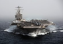 US Navy 101205-N-4856N-174 The aircraft carrier USS Abraham Lincoln (CVN 72) transits the Arabian Sea.jpg