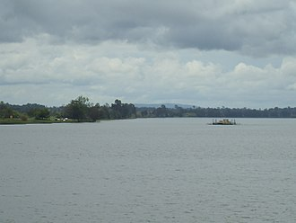 Ulmarra, New South Wales - The Clarence River, with the Ulmarra Ferry