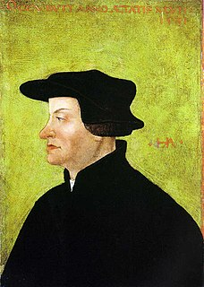 Huldrych Zwingli leader of the Protestant Reformation in Switzerland, and founder of the Swiss Reformed Churches