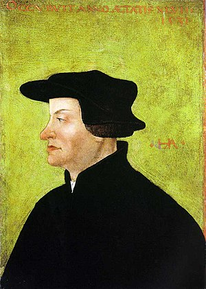 Restorationism - Huldrych Zwingli as depicted by Hans Asper in an oil portrait from 1531; Kunstmuseum Winterthur.