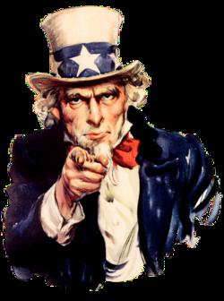 Uncle Sam (pointing finger)