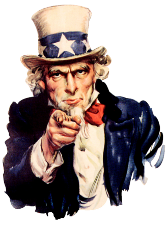 "Culture of the United States - U.S. Propaganda material ""Uncle Sam needs YOU!"", painted by James Montgomery Flagg in 1916–17."