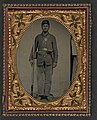 Unidentified soldier in Union uniform with bayoneted musket, cartridge box, and cap box LOC 5228572857.jpg
