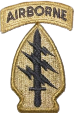ssi of 1st special forces command airborne and its special forces groups the us armys