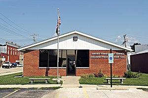Milledgeville, Illinois - United States Post Office in Milledgeville