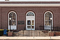 United States Post Office Waterloo, New York entrance 2013.jpg