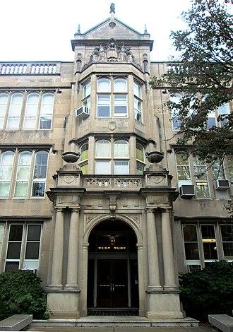 University Laboratory High School (Urbana, Illinois) - Main entrance to Uni (2013)